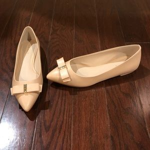 NEW Cole Haan size 7 nude tan leather flats shoes